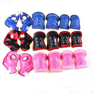 Kids Scooter Roller Ski Skate Protection Kit Skating Knee Pads Wrist Elbow Pads