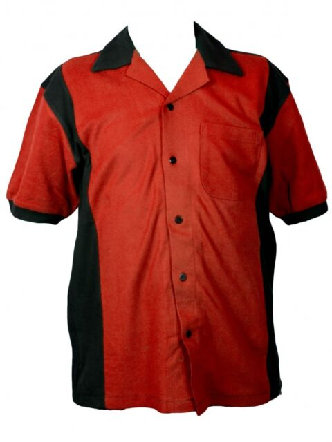 Hilton Deuce Retro Bowling Shirt - Red and Black