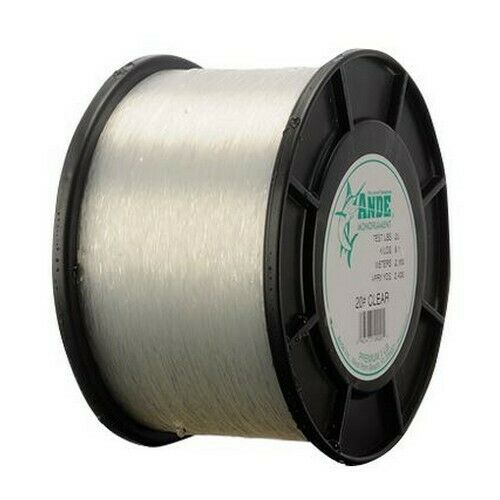 Ande PC1//4-20 Premium Clear 20# 1//4lb Spool Monofilament Fishing Line