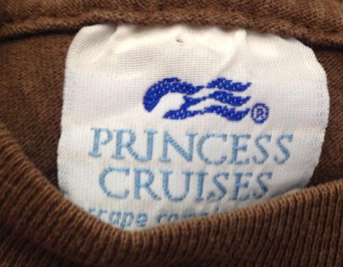 Croisière Hommes shirt Col Rond T Princesse Grand Étoile 2002 Est Vintage Brun Ypnqw5n