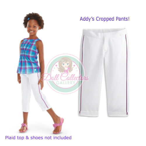 American Girl CL ADDY CLASSIC CROPS SIZE 8 S for Girls White Pants Capris NEW