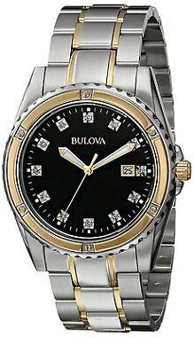 Bulova Men's 98D122 Quartz Two Tone Watch