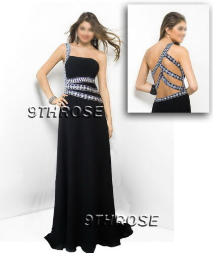 SHOW OFF YOUR STYLE BLACK BEADED FORMAL//EVENING//PROM//BALL GOWN; AU 16//US 14