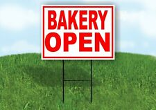 Bakery Open Red White Yard Sign Road With Stand Lawn Sign