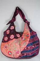 Hoho Chic Bag Or Purse Purple With Turquoise-flowers & Accents By Maggib Nwt's