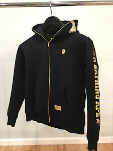 a9807363e300 Authentic A Bathing Ape Black Shark Hoodie Size M Travis Scott BAPE ...