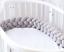 2019 Infant Plush Crib Bumper Bed Bedding Cot Braid Pillows Pad Protector-mo