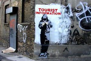 Brillant Banksy Tourist Information Poster A2 T-afficher Le Titre D'origine