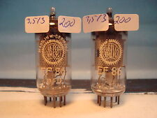 matched Pair EF86 # VALVO / MULLARD # OLDEST PRODUCTION  (200a)