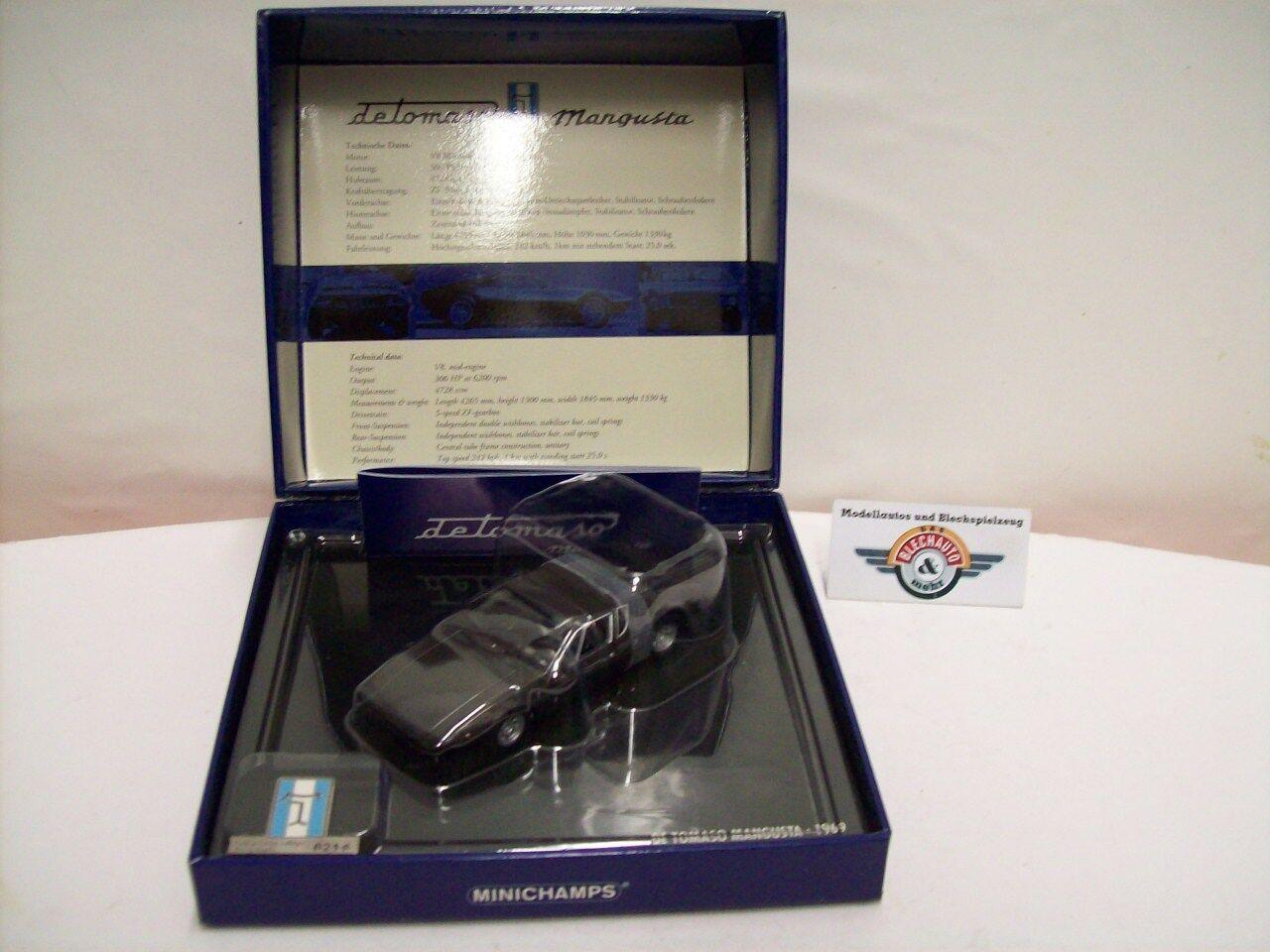 De Tomaso Mangusta  presentbox  1969, marrone Metallic Minichamps, 1:43, OVP