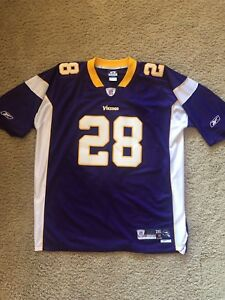Details about MINNESOTA VIKINGS Adrian Peterson Authentic NFL Stitched Jersey #28 XXL