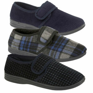 Mens-Wide-Fitting-Slippers-Mens-Extra-Wide-Fitting-Slippers-House-Shoes-Opening