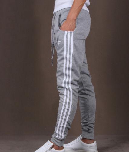 MENS SLIM FIT TRACKSUIT BOTTOMS SKINNY JOGGERS SWEAT PANTS JOGGING GYM TROUSERS