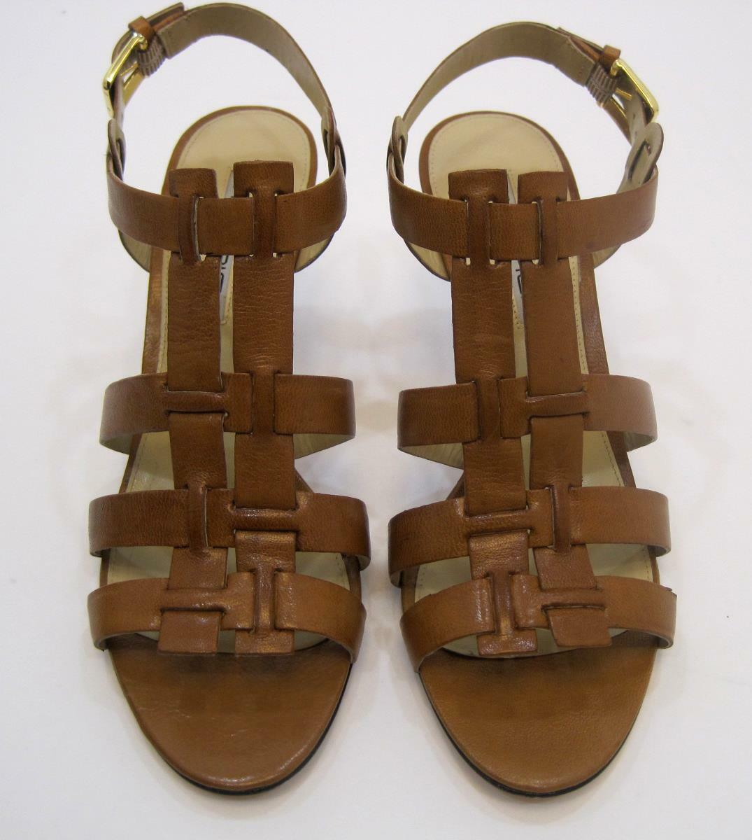 New Womens Via Spiga V-Trisha-British Tan Size 7M High Heel shoes Strap