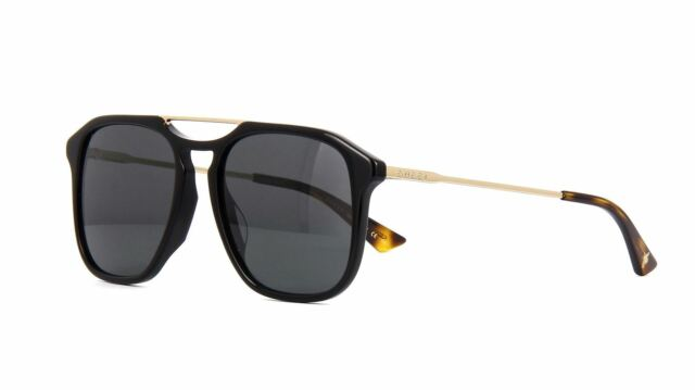 2f6f5391be5 Gucci Sunglasses Gg0321s 001 Black Gold Grey for sale online