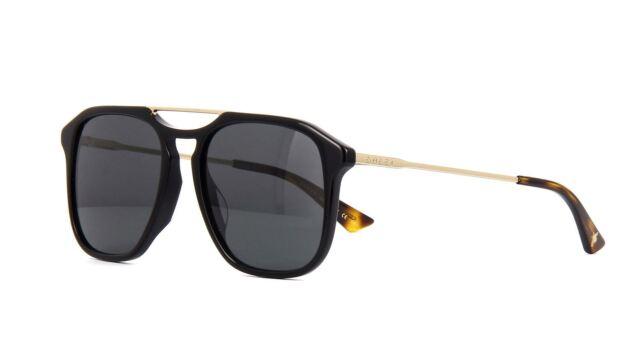 19363c6871 Gucci Sunglasses Gg0321s 001 Black Gold Grey for sale online