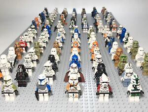 Lot-of-4-RANDOM-Lego-Star-Wars-Minifigures-Lot-Clone-Storm-Troopers-Commander