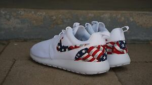 66b2375d42472 New Nike Roshe Run Custom American Flag Red White Blue Edition Men ...
