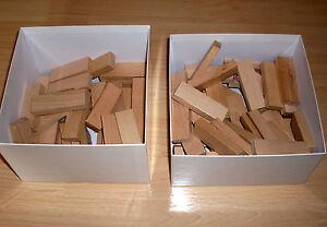 viele-Bausteine-Baukloetze-Holzbausteine-7-5-x-2-5-cm-Neuwertig