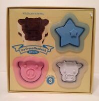 Williams-sonoma Ice Cream Sandwich Molds - Star Pig Cow Set 3 -