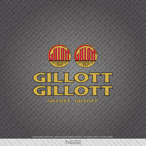 01422 A S Gillott Bicycle Stickers - Decals - Transfers - Gold With Black Key