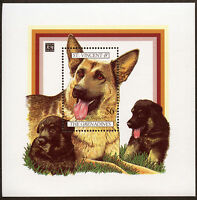 GERMAN SHEPHERD DOG ALSATIAN Postage Stamp Souvenir Sheet St Vincent 1994 Mint