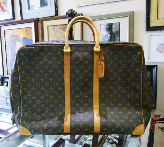 Louis Vuitton Monogram Sirius 55 Brown Tan Canvas Soft Suitcase Travel Bag 2f49427bc9