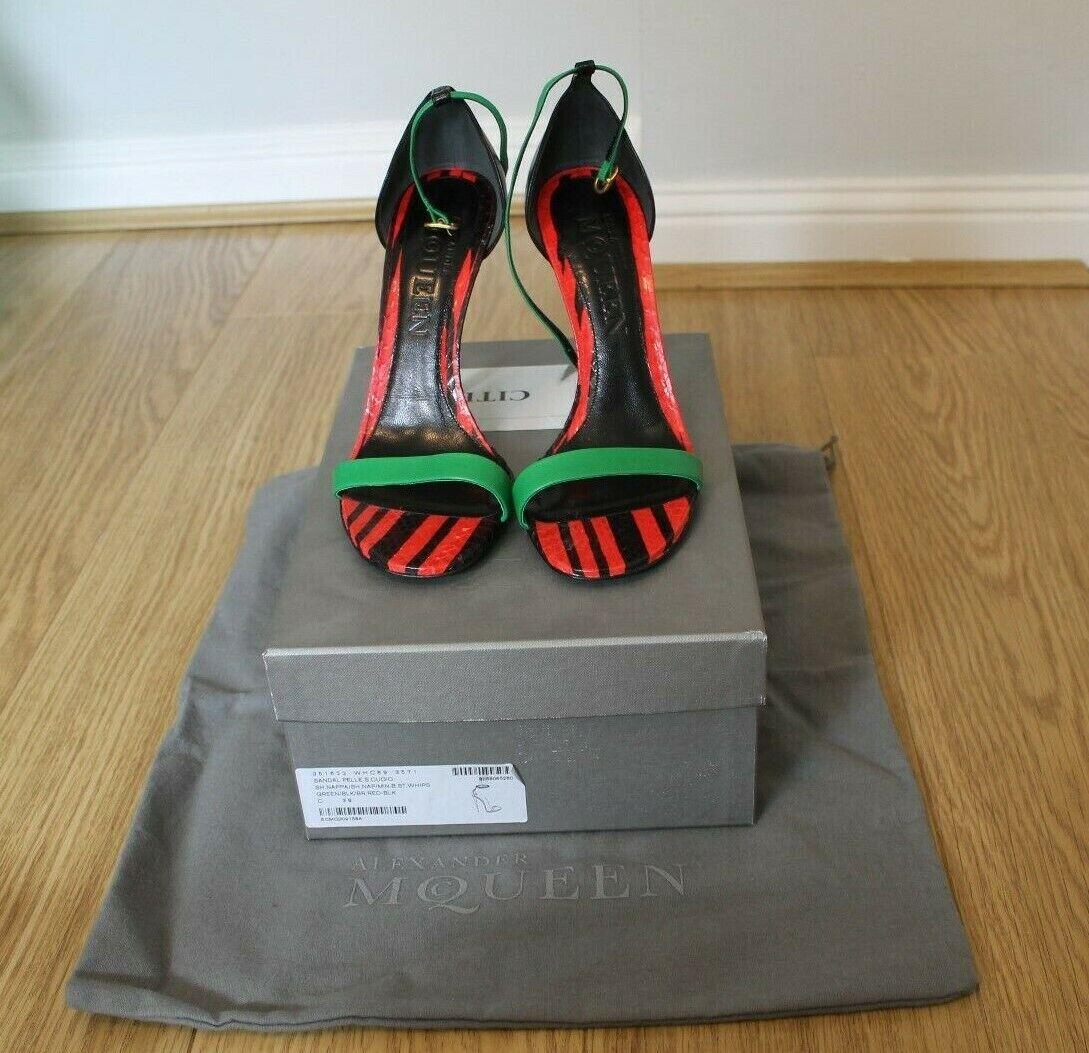 Alexander McQueen rouge et vert Serpent Sandales-Taille 39