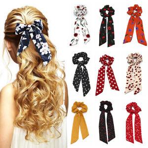 Boho-Print-Ponytail-Scarf-Bow-Elastic-Cloth-Hair-Rope-Tie-Ribbon-Hair-Bands-NEW