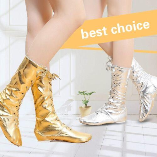 Scarpe Stivali Donna GoGo Cool 60s 70s con occhielli nella parte DS Dance 2-7 UK scarpe basse lucide