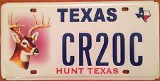 TX Hunt Texas optional license plate hunting Lodge Buck Bow Hunter Sportsman Gun