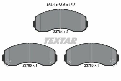 TEXTAR Bremsensatz VA für KIA K2500,K2700