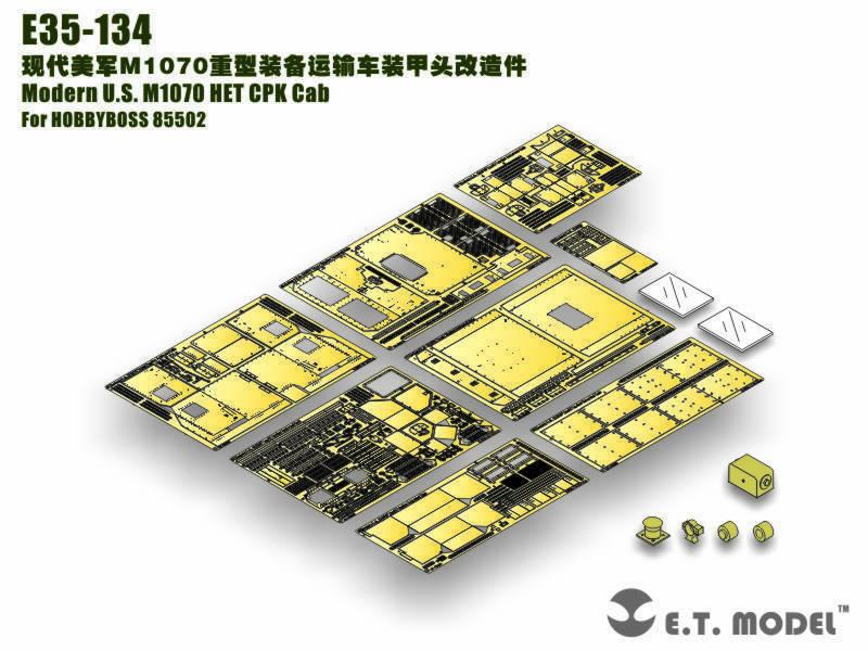 ET Model 1 35 Modern US M1070 HET CPK Cab Detail-up set for HobbyBoss 85502
