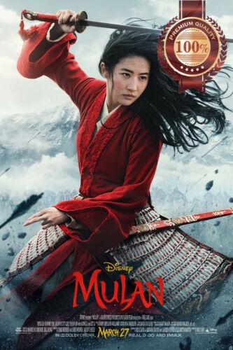 MULAN 2020 LIVE DISNEY OFFICIAL ORIGINAL CINEMA MOVIE PRINT PREMIUM POSTER
