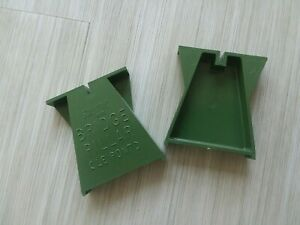 vintage Scalextric Green Track BRIDGE PILLARS, NOS! from Old Slot Set, Pair (2)