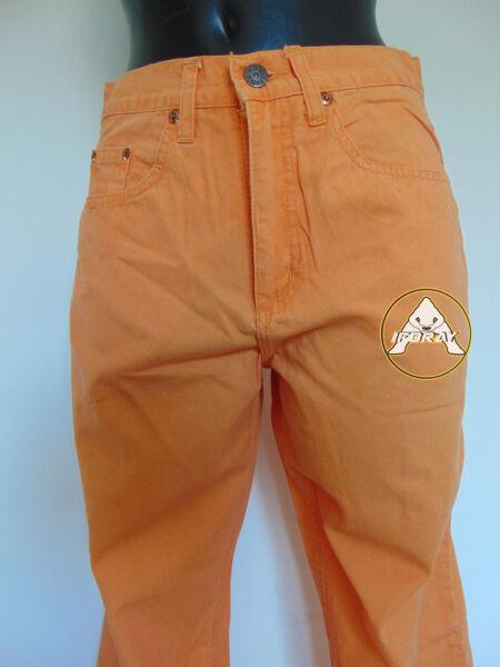 Umile Vintage 80 Spitfire S 30 Pantaloni Leggeri Arancione Donna Nuovo 70 Nos Stock