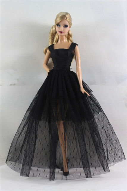Black Fashion Royalty Princess Dress/clothes/gown for Barbie Doll ...