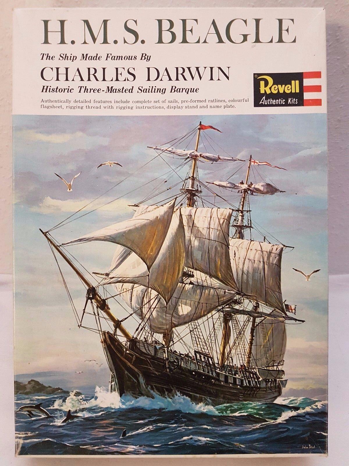Revell H-328 H-328 H-328 H.M.S. Beagle The Ship Made Famous By C. Darwin Neu und eingetütet 04c766