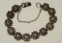 Pewter Vintage Bracelet - Vintage Jewelry