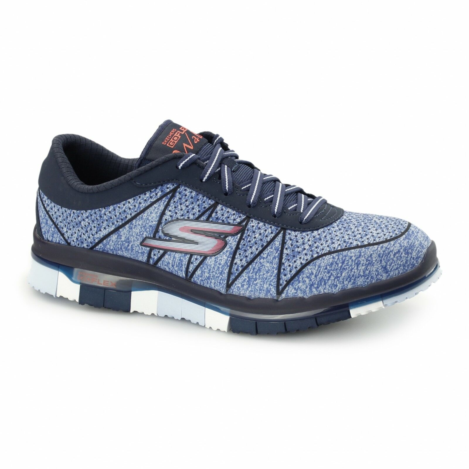 Skechers GO FLEX WALK - ABILITY Ladies Lace Up Sports Comfort Trainers Navy/Blue