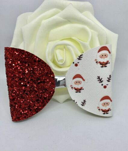 Large 4 Inch Red Santa Christmas Children/'s Hair Bow