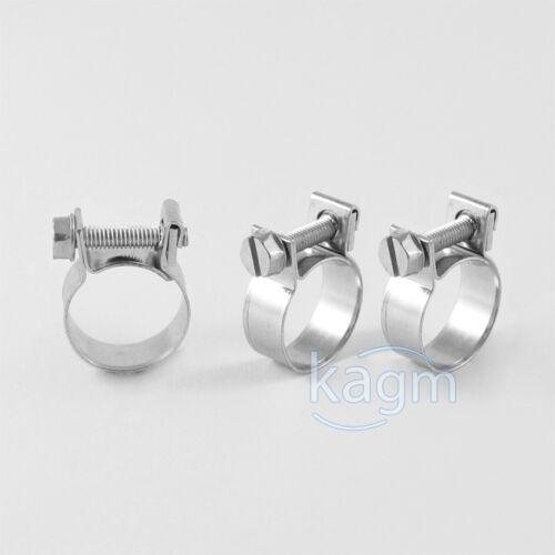 10x Schlauchschellen 12-14 mm Mini Schellen Industriequalität W1 verzinkt TOP