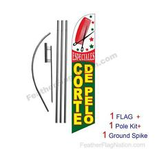 Corte De Pelo Feather Banner Swooper Flag Kit with pole+spike