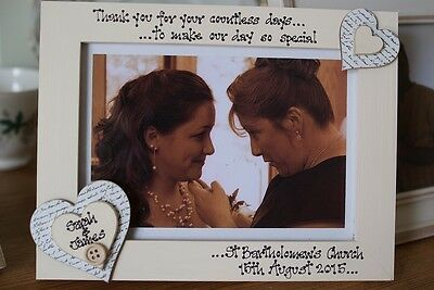 Personalised Photo Frame by Filly Folly Gift for Bride from Bridesmaid!