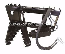 New Hd Tree Amp Post Puller Attachment Skid Steer Loader Ripper Takeuchi Terex Asv