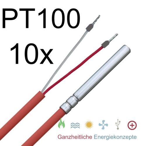 10 Stück PT100 PT 100 2,0 m Temperaturfühler Temperatursensor Vorteilspaket