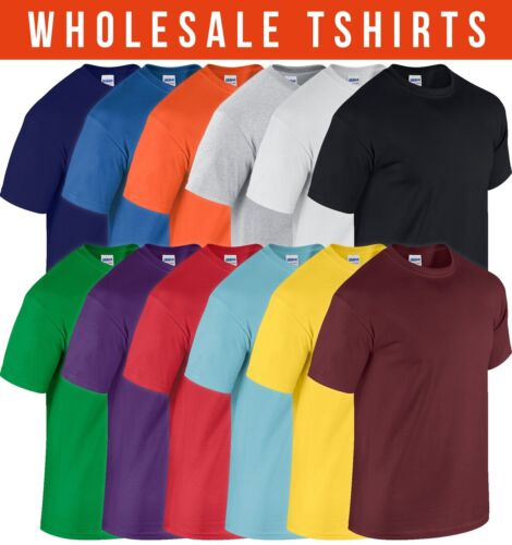 Wholesale Lot Mens GILDAN Soft Cotton T Shirt All Sizes and Colours BULK BUY