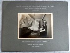 PHOTO CABINE 1°CL BATEAU PAQUEBOT VAPEUR FORMOSA circa 1914 SGTM MARSEILLE N°1