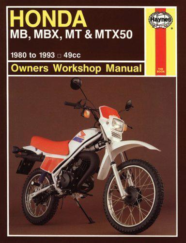 HONDA MB,MBX,MT and MTX50 owner's MANUAL DE TALLER (Motocicleta Manuales) por