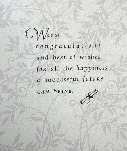 NEW Details about  /M.B.A Degree Graduation Card with Envelope for ANYONE by Hallmark